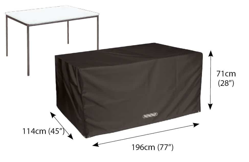 Bosmere Storm Black D560 Rectangular Table Cover 8 Seat